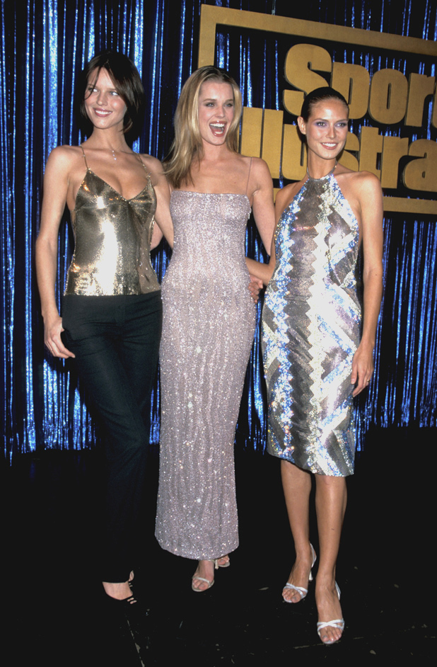 With Rebecca Romijn and Heidi Klum, 1999  ::  Ron Galella, Ltd./WireImage.com