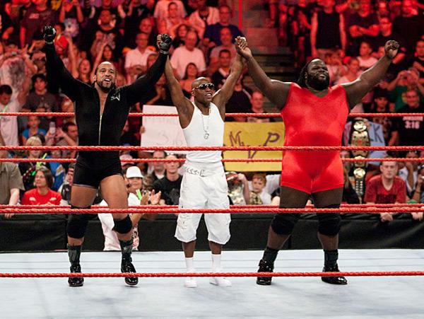 Floyd Mayweather, MVP and Mark Henry (2008) :: Courtesy of WWE