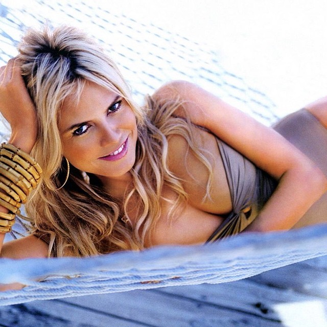 @heidiklum: Photo blast from the past: Relaxed!