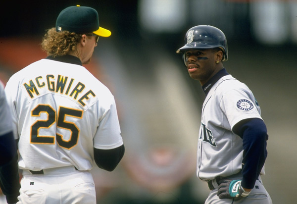 Ken Griffey Jr. and Mark McGwire (1995) :: Brad Mangin/SI