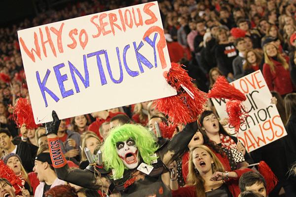 Georgia Bulldogs vs. Kentucky Wildcats :: Greg McWilliams/Icon SMI