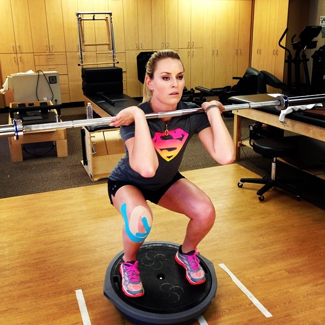 @lindseyvonn: Working hard in therapy today. Making progress! #IWILL #sochi2014 #workinghard