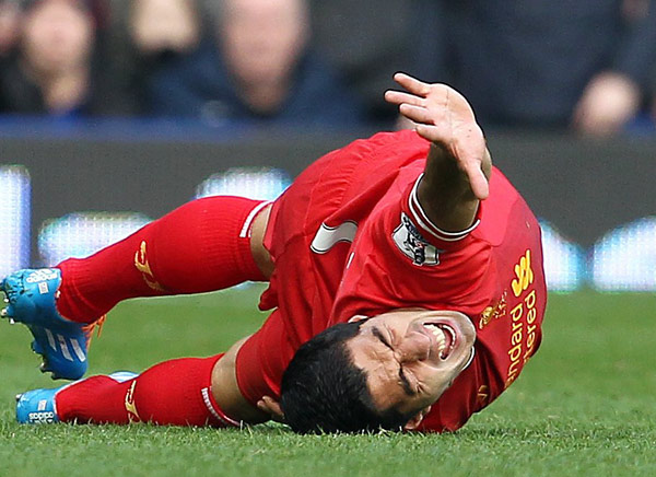 LUIS SUAREZ: The Liverpool star is as talented a forward as there is in the world, but he can't escape controversy. Between his intentional, goal-saving handball in the 2010 World Cup, biting a player while playing for Ajax in 2010, getting involved in a
