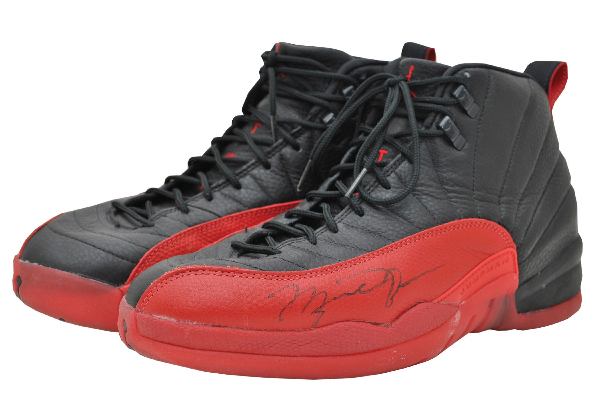"Michael Jordan's autographed ""Flu Game"" shoes are going up for auction. (GreyFlannelAuctions.com)"