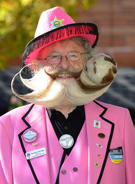 Former champion Gerhard Knapp at the 2012 National Beard and Moustache Championships :: FREDERIC J. BROWN/AFP/Getty Images
