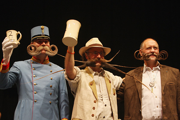 Finalists at the 2007 World Beard and Moustache Championships :: Daniel Berehulak/Getty Images