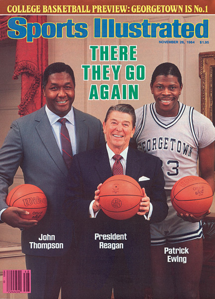 2. John Thompson, Ronald Reagan and Patrick Ewing (1984) :: Lane Stewart/SI