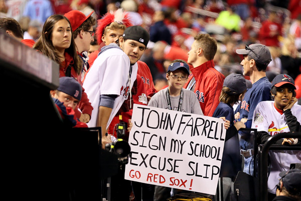 Red Sox at Cardinals :: Rob Carr/Getty Images