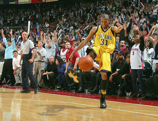 Reggie Miller (2004) :: Jesse D. Garrabrant/NBAE via Getty Images