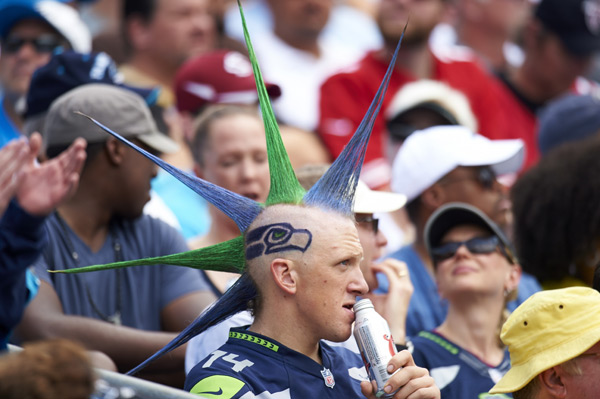 Seahawks fan :: Al Tielemans/SI