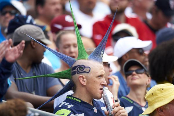 Seahawks fan :: Al Tielemans/SI