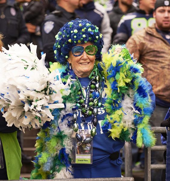 Seahawks fan :: Robert Beck/SI