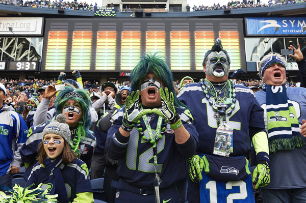 Seahawks fans :: Robert Beck/SI