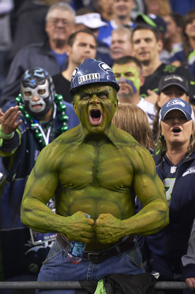 Seahawks fan :: Robert Beck/SI