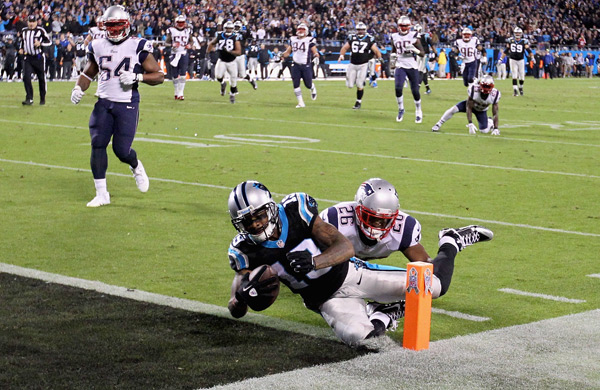 Ted Ginn scores go-ahead touchdown in fourth quarter. (Streeter Lecka/Getty Images)