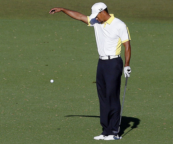 TIGER WOODS: The little-known golfer committed an illegal drop on the 15th hole at the Masters this April, placing his ball about two yards back to give himself a better angle during the second round. A TV viewer alerted Augusta officials to the violation