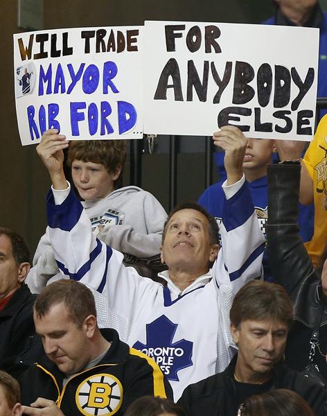 Boston Bruins vs. Toronto Maple Leafs :: AP/Michael Dwyer
