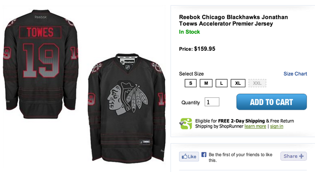 If you buy a jersey that looks like that, you deserve to have the name spelled wrong.                                                                  (via Yahoo!'s Puck Daddy)