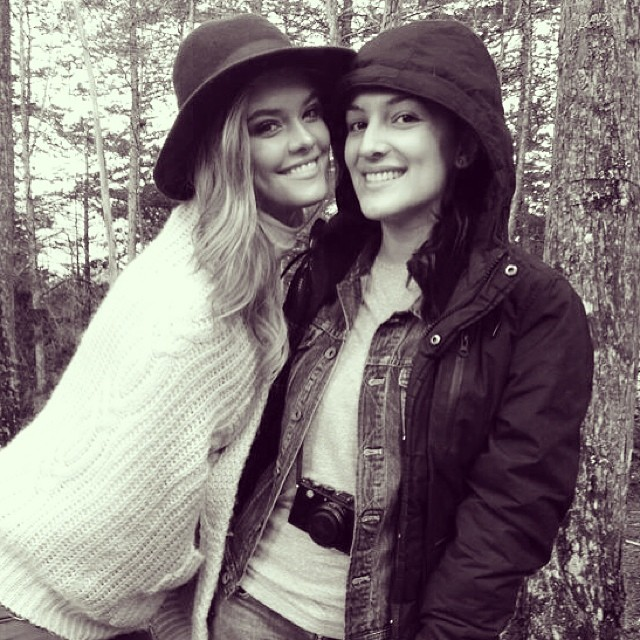 @ninaagdal: @lauratru trying to stay warm in the colombian woods
