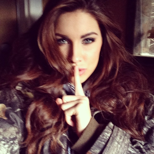 @_katherinewebb: Left an interview all dolled up to go hunting with my Dad. He likes to remind me of my childhood...and to tell me to be quiet. Shhhhh....