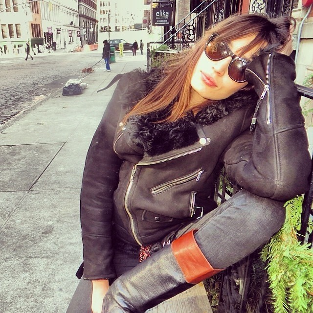 @onemanagement: @KenzaFourati on Bond Street. #Kenza #model #onemanagement #newyork #nyc #bondstreet #fashion #blkdnm