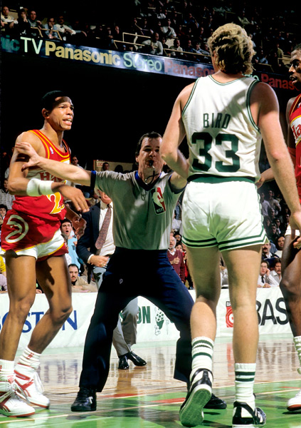 Doc Rivers and Larry Bird :: Bettman/Corbis