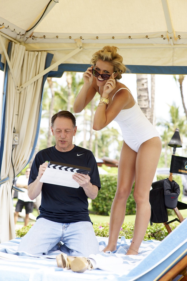 Maui, on the set of Just Go With It (with director Dennis Dugan), 2010  ::  Stewart Shining/SI