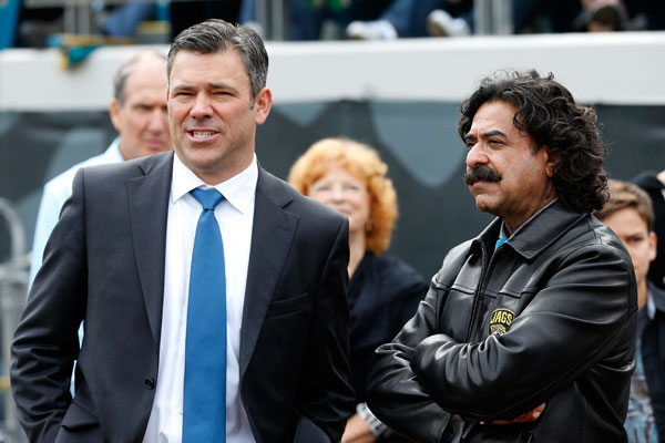 Mark Brunell and Shahid Khan :: Getty Images