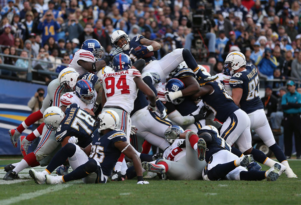Chargers and Giants ::  Jeff Gross/Getty Images
