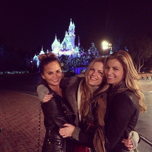 @chrissyteigen: The happiest place on earth with @erinandrews and @brooklynddecker