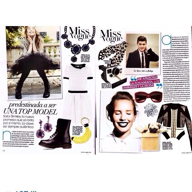 @christiebrinkley: Sailor is Miss Vogue! Gracias! #voguemexico @paradisonyc @sailorbrinkleycook