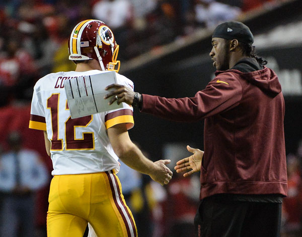 Kirk Cousins and Robert Griffin III :: Getty Images