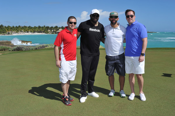 Angelo Solomita, David Ortiz, Jose Bautista and Alex Radetsky :: Photo Courtesy of  David Ortiz Children's Fund