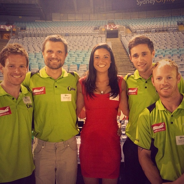@mjenneke93: Had a great time with the boys last night at the season launch for Sydney Thunder! @thunderbbl @crwoakes19 @eoinmorgan16 #ThunderNation #cricket