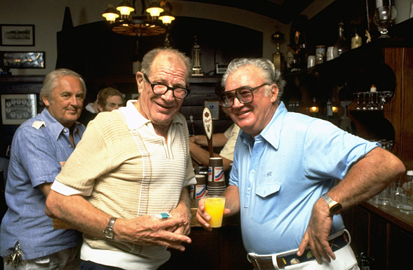 Harry Caray and Bill Veeck :: Photo by Hal Stoelzle