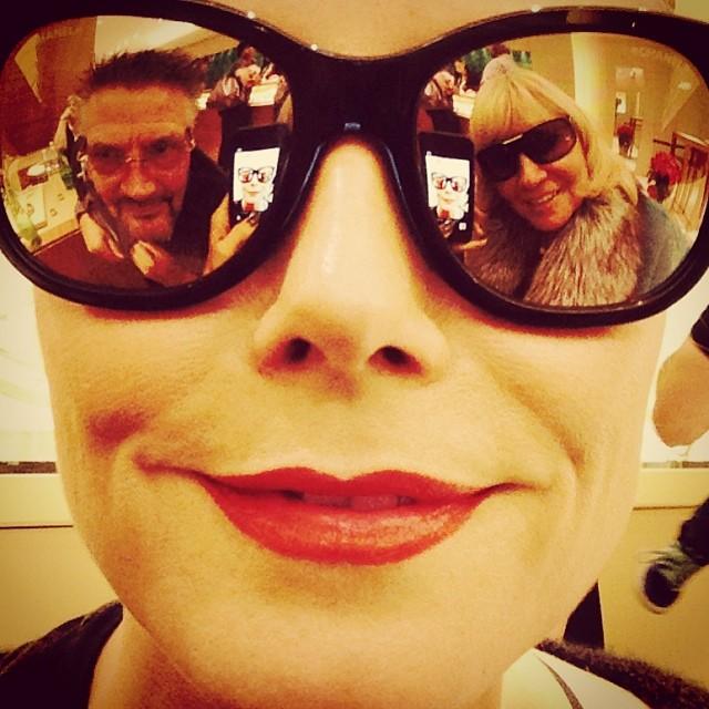 @heidiklum: Shopping with Mom and Dad
