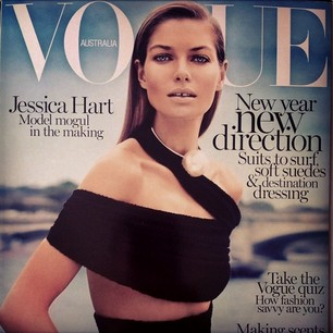 @1jessicahart Woooo hooooo!!! THANK YOU SO MUCH @vogueaustralia I'm so HAPPY with my cover  #onabloodygoodrun