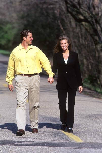 Jim and Miah Harbaugh :: David Walberg/SI