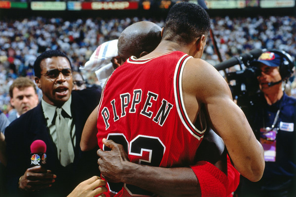 Michael Jordan and Scottie Pippen :: Nathaniel S. Butler/NBAE via Getty Images