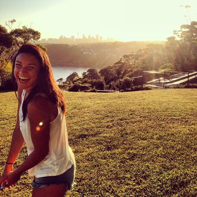 @mjenneke93: Fun times watching the sun set over Sydney city #Sydney #sunset #smile