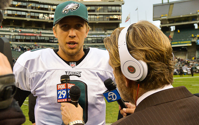 Nick Foles :: Drew Hallowell/Philadelphia Eagles/Getty Images