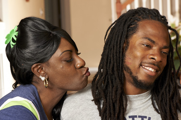 Richard Sherman and mother, Beverly :: Robert Beck/SI