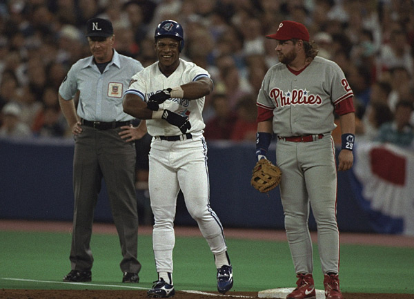 Rickey Henderson and John Kruk :: V.J. Lovero/SI