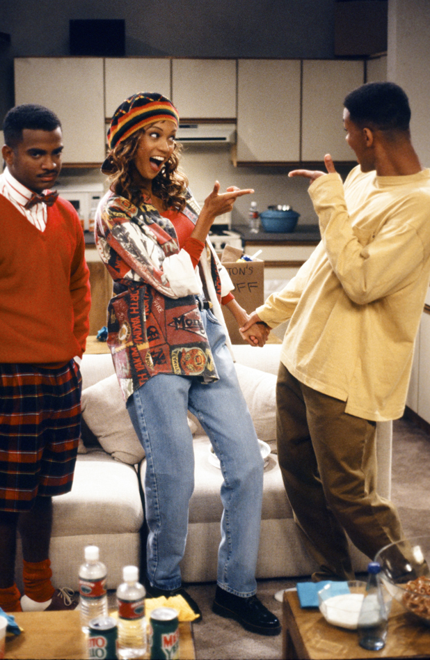 With Alfonso Ribeiro and Will Smith On the Fresh Prince set, 1993  :: NBCU Photo Bank/Getty Images