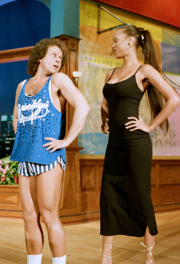 With Richard Simmons on the Tonight Show, 1995  ::  Margaret Norton/NBCU Photo Bank/Getty