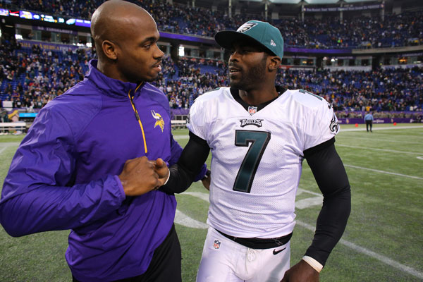 Adrian Peterson and Michael Vick :: Getty Images