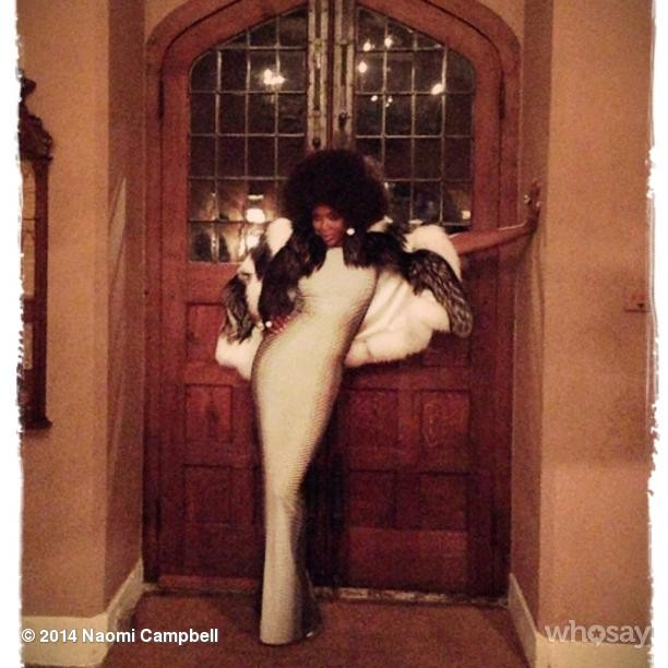@iamnaomicampbell: Ready to dance #katemoss Celebrations #letthemusicplay