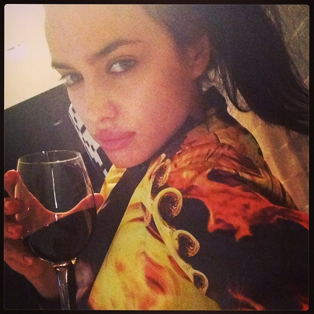 @irinashayk: wine and #givenchy the best 06.01.12