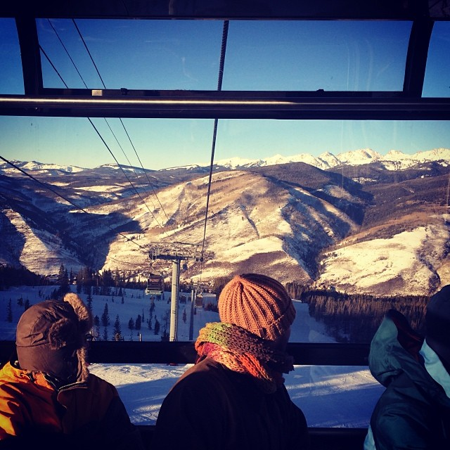 @emilydidonato1: Not a bad view on our way to location #vail