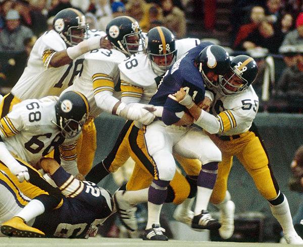 Pittsburgh Steelers defense (Super Bowl IX, Jan. 12, 1975) :: Walter Iooss Jr./SI